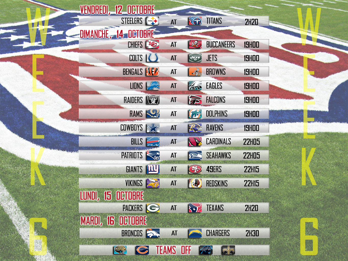 Calendrier Nfl 2020 2019.Calendrier Nfl 2019