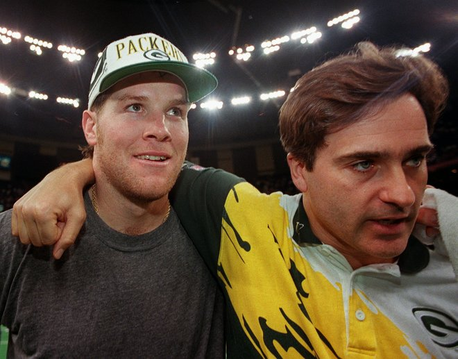 Brett Favre & Steve Mariucci